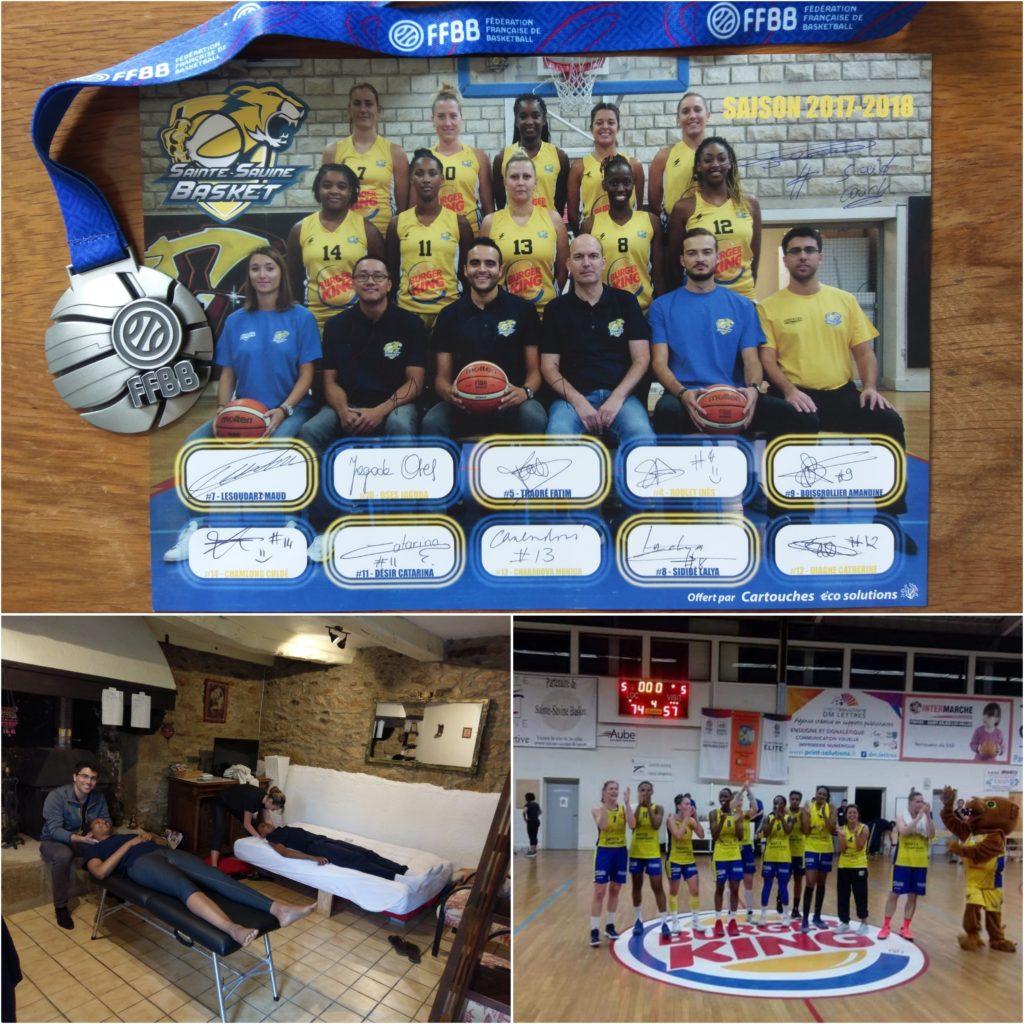 Suivi de l'équipe féminine du Sainte-Savine Basket pour la saison 2017/2018 en NF2. #chiropracteur #sport